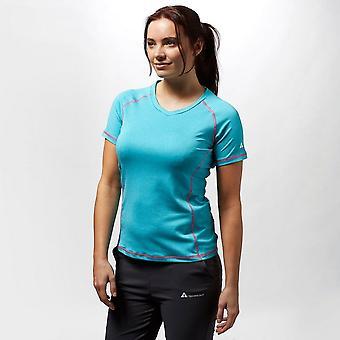 New Technicals Women's Short Sleeve Round Neck Vitality T-Shirt Blue