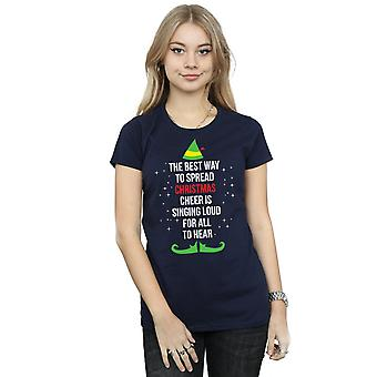 Elf Women's Christmas Cheer Text T-Shirt