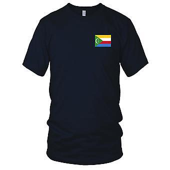 Drapeau National du pays Comores - brodé Logo - T-Shirt 100 % coton T-Shirt Mens