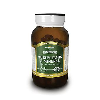 Natures Own Food State Multivitamin & Mineral-Euro Formula, 100 vegetarian tablets