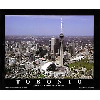 Toronto Canada - Blue Jays på Skydome plakat Print af Brad Geller (28 x 22)