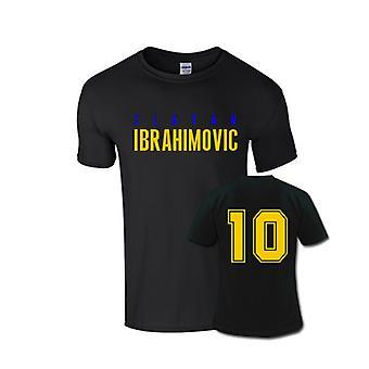 Zlatan Ibrahimovic przednie nazwa T-shirt (czarny)