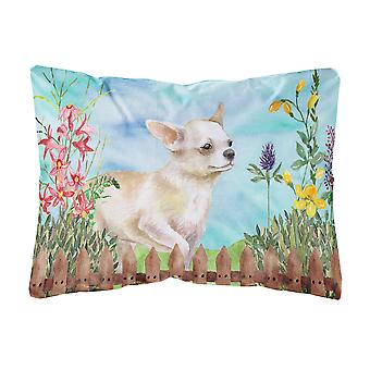 Chihuahua Leg up Spring Canvas Fabric Decorative Pillow