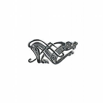 Silver 21x42mm Celtic animal Brooch