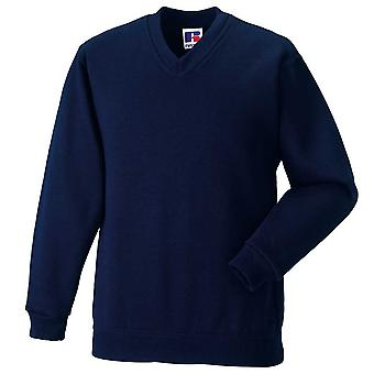 Russell Mens V-Neck Long Sleeve Sweatshirt