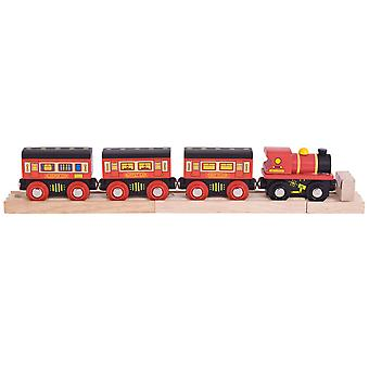Bigjigs Rail Wooden The Sleeper Train Engine Locomotive Railway Track