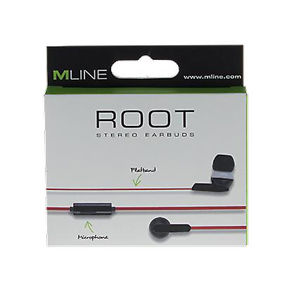 Mline root stereo headset headphone black/red, iPhone and Smartphone