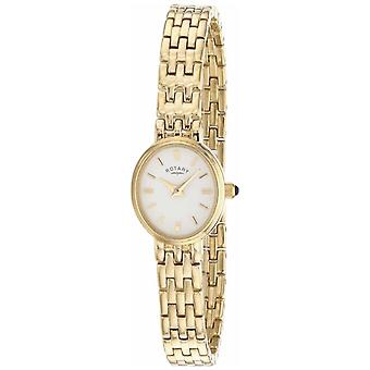 Rotary Womens Gold Plated Bracelet Oval Dial LB02084/02 Watch