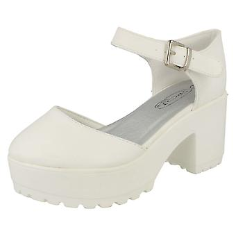 Girls Spot On Platform Block Heels