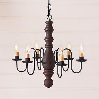 Manassas Chandelier in Hartford Red over Black