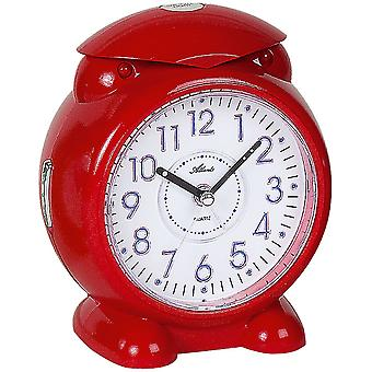 Atlanta 1985/1 alarm clock for children quartz analog kids alarm clock red with light