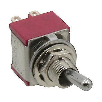 Interrupteur à bascule 2 pôles avec position neutre, les deux parties cherchant à tâtons, (ON)-OFF-(ON)