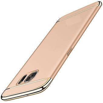 Celular capa capa para Samsung Galaxy J3 2017 para-choques 3 em 1 tampa ouro
