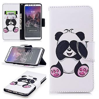 For Huawei P smart plus / Nova 3i kunstlæder lommebog motiv 33 beskyttelse ærme tilfælde dække etui nye