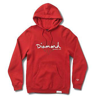 Diamond Supply Co. Script brillant Hoodie rouge