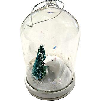 LilyPond håndværk & gaver hvælvet jul dekoration isbjørn & træer