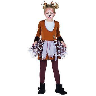 Rehkitz Kleid Tutu Kostüm Kinder Karneval Waldbewohner Tierkostüm Mädchen