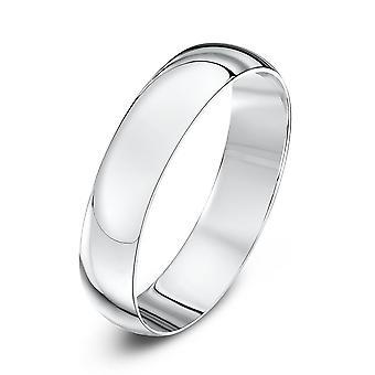 Ster bruiloft ringen 18ct wit goud licht D 4mm trouwring