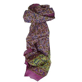 Mulberry jedwabiu tradycyjny długi szalik Aditi Rose przez Pashmina & Silk