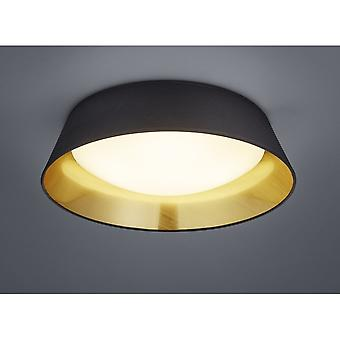 Trio Lighting Ponts Modern Black Fabric Ceiling Lamp