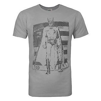 Junk Food Batman Flag Men's T-Shirt Grey