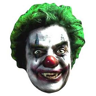 Evil Clown Halloween Card Fancy Dress Mask