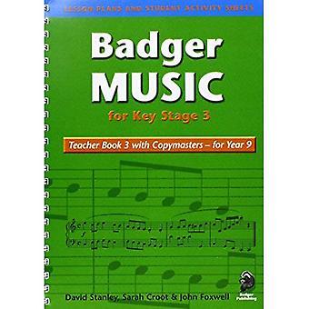 Grävling musik för avgörande skede 3: lärare boka för år 9: lärare boka för år 9 Bk. 3