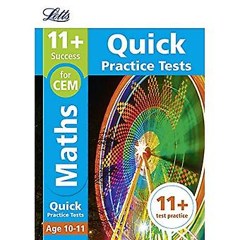 11+ Maths Quick Practice Tests Age 10-11 for the CEM tests - Letts 11+ Success (Paperback)