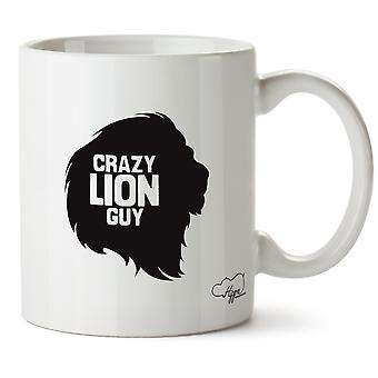 Hippowarehouse hullu Lion kaveri painettu muki Cup keraaminen 10oz