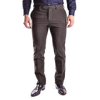 Pt01 Ezbc084012 Men's Brown Cotton Pants
