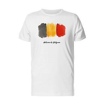 Welcome To Belgium Splashart Tee Men's -Image by Shutterstock