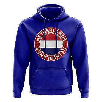 Paesi Bassi calcio Badge Hoodie (Royal)