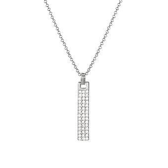 Eeuwige collectie Incognito duidelijke Crystal Silver Tone Bar hanger ketting