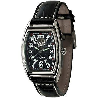 Zeno-horloge mens watch tonneau retro open hart 8085U-h1