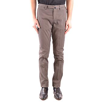 Incotex Ezbc093060 Men's Grey Cotton Pants