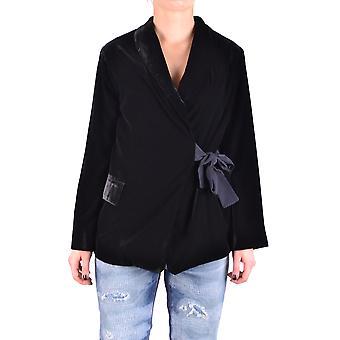 Liviana Conti Ezbc261032 Women's Black Velvet Blazer