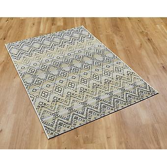 Brighton 98004 2019 gul rektangel mattor Plain/nästan vanligt mattor