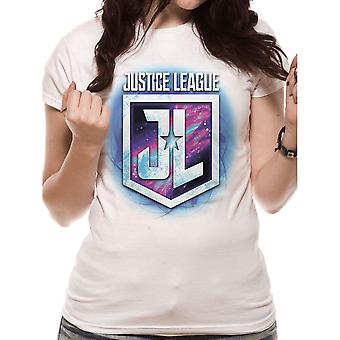 Women's Justice League Purple Shield T-Shirt