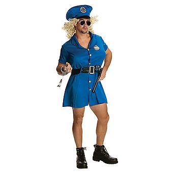Sexy mini kjole for menn politiet COP kostyme politi drakt