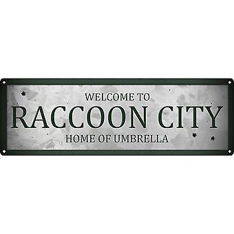 Grindstore Benvenuti a Raccoon City Slim Tin Sign
