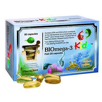 Pharmanord BIOmega-3 KIDS Fish Oil Caps 80