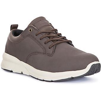 Trespass Mens Carlan Light Low Cut Leather Walking Shoes