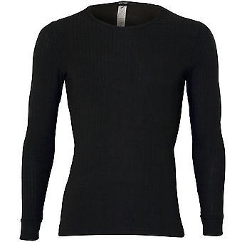HOM Heat Cashmere Ribbed Long-Sleeve T-Shirt, Khaki
