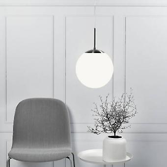 Ceiling Pendant Light Opal White Large Glass Globe