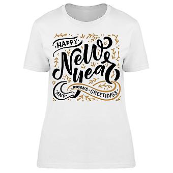Hand Lettering New Year Tee Women's -Image by Shutterstock