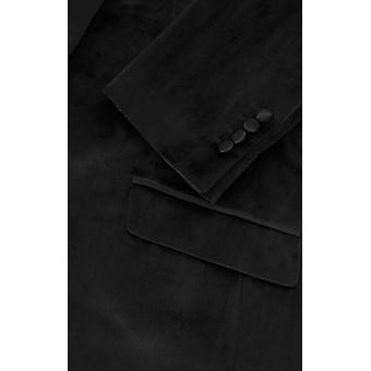 Dobell menns svart smoking middag jakke slim fit Velvet sjal jakkeslaget