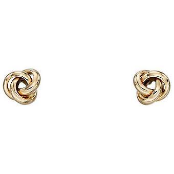 מרכיבים זהב-עגילי קשר טוויסט-זהב