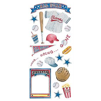 Clear Sticker - Baseball - 5.5'' x 12'' Toys Gifts New pscb28