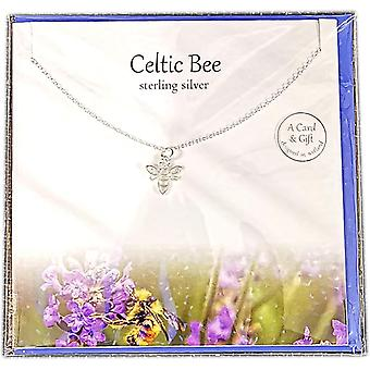 Silver Studio Scottish Collection Celtic Bee vedhæng kort