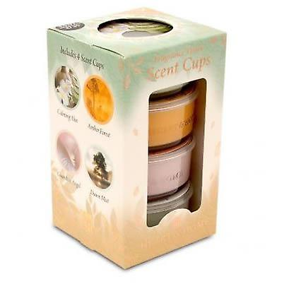 Scent Cup Candles 4 Pack Woodland Spa
